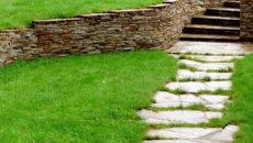 Как обыграть и укрепить склон: террасы, лестницы, габионы, подпорные стенки