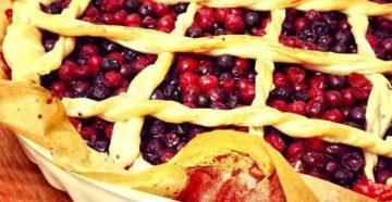 Рецепт пирога с клюквой