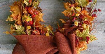 Осенние венки на дверь своими руками