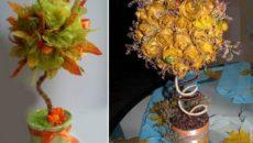 Топиарий из кленовых листьев своими руками