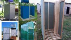 Из чего построить летний душ?