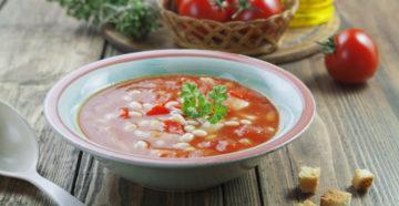 Томатный суп (постный)