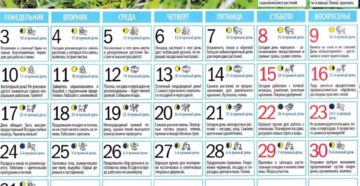 Календарь садовода и огородника на июль