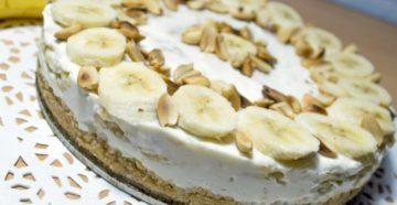Банановый пирог без выпечки